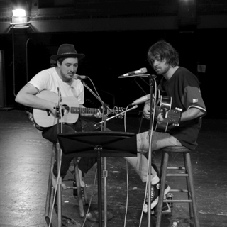 Marcus Mumford & Justin Hayward-Young at Troy High School on Aug 30, 2013