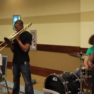 Trombone Shorty at Deluna Fest on Oct 15, 2011