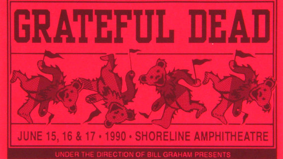 Grateful Dead concert at Shoreline Amphitheatre on Jun 15, 1990