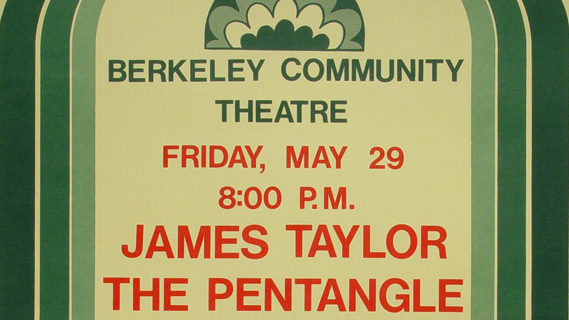James Taylor concert at Berkeley Community Theatre on May 29, 1970