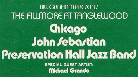 Chicago concert at Tanglewood on Jul 21, 1970