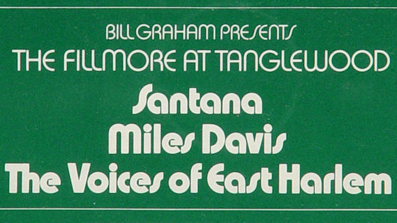 Santana concert at Tanglewood on Aug 18, 1970