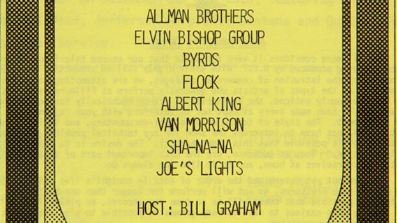 The Allman Brothers Band concert at Fillmore East on Sep 23, 1970