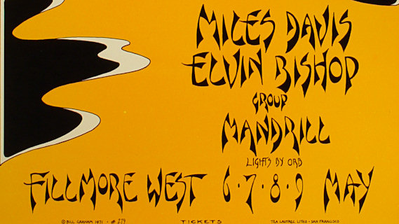 Miles Davis concert at Fillmore West on May 7, 1971