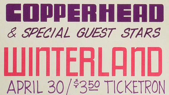 Copperhead concert at Winterland on Apr 30, 1972