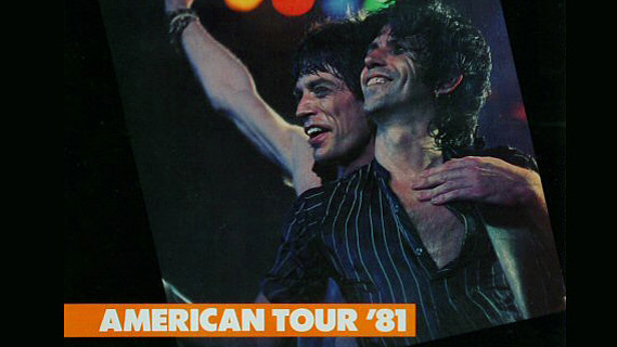The Rolling Stones concert at Rosemont Horizon on Nov 23, 1981