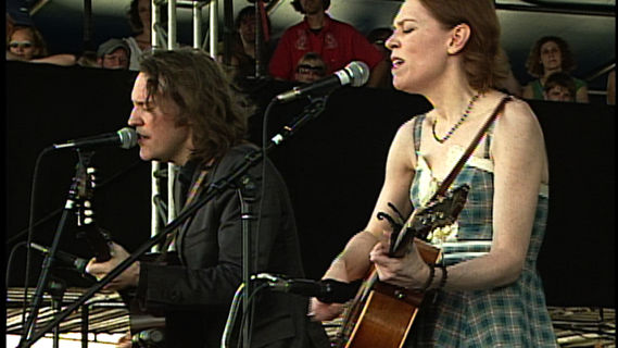 Gillian Welch concert at Newport Folk Festival on Aug 3, 2008