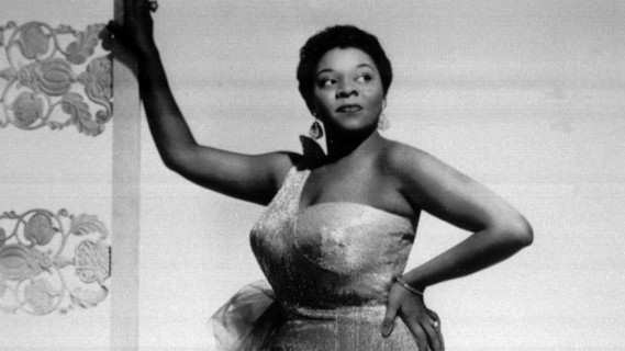 Dinah Washington concert at Newport Jazz Festival on Jul 16, 1955
