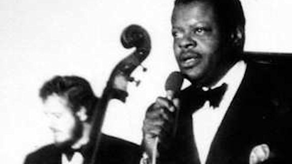 Oscar Peterson Trio concert at Newport Jazz Festival on Jul 3, 1959