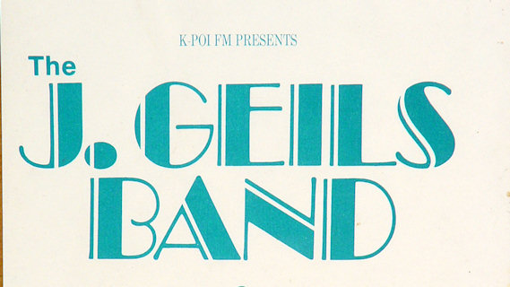 J. Geils Band concert at Oakland Coliseum Arena on Mar 22, 1980