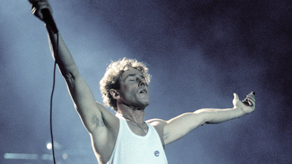 Roger Daltrey concert at Interview on Dec 8, 1985