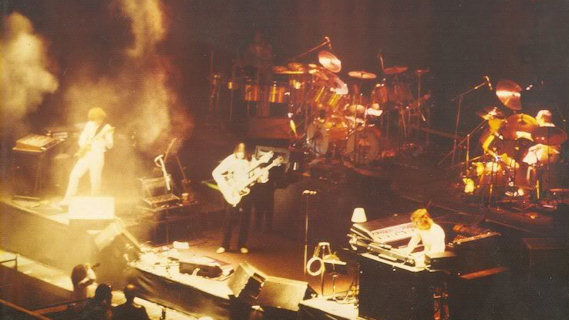 Genesis concert at Shrine Auditorium on Jan 24, 1975