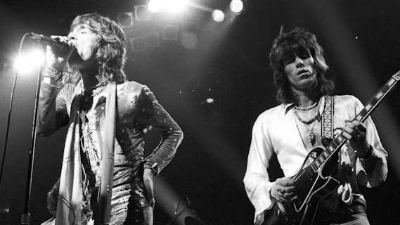 The Rolling Stones concert at Forest National on Oct 17, 1973