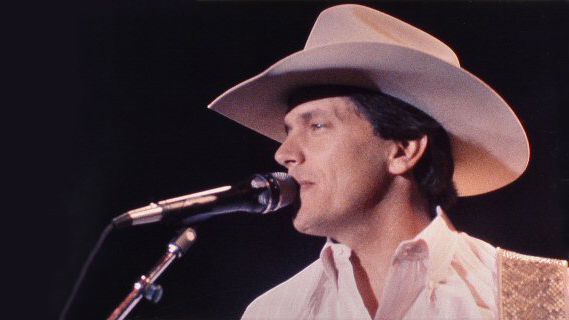 George Strait concert at Opryhouse on Apr 14, 1983