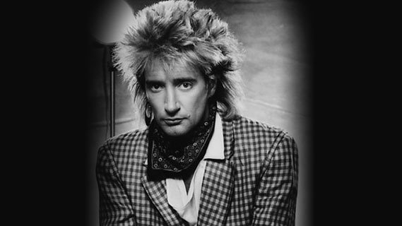 Rod Stewart concert at Interview on Oct 1, 1984