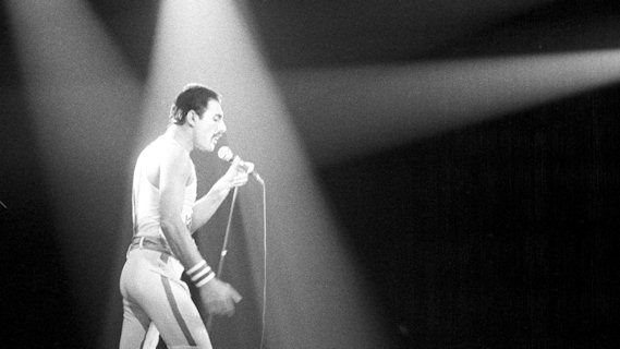 Freddie Mercury concert at Interview on Jan 1, 1983