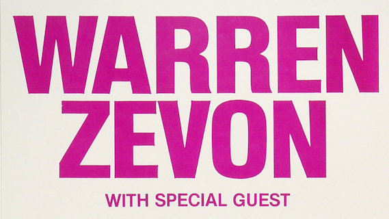 Warren Zevon concert at Capitol Theatre on Oct 1, 1982