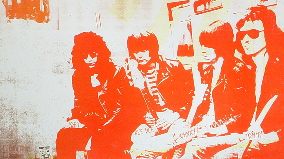 The Ramones concert at Palladium on Jan 7, 1978