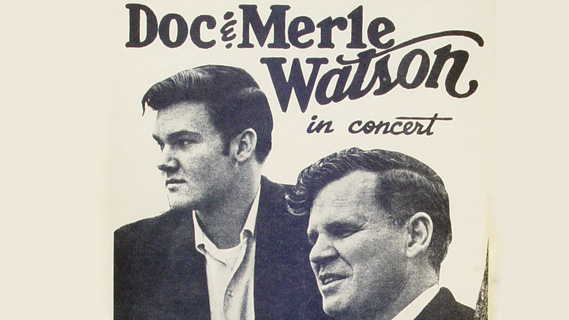 Doc Watson and Merle Watson concert at Bottom Line on Aug 13, 1977