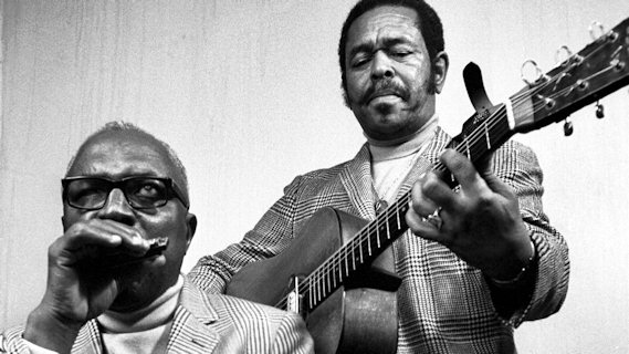 Sonny Terry & Brownie McGhee concert at New England College on Nov 12, 1972