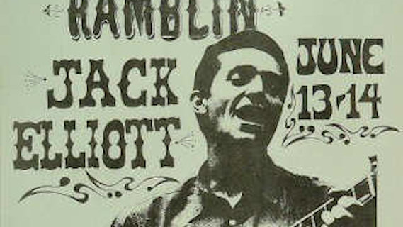 Ramblin' Jack Elliott concert at Ash Grove on Aug 16, 1963