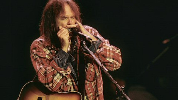Neil Young concert at Shoreline Amphitheatre on Nov 18, 1993