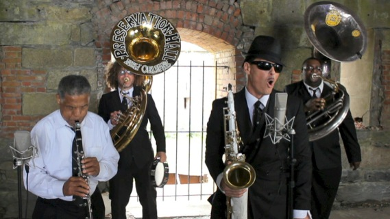 Preservation Hall Jazz Band concert at Paste Ruins at Newport Folk Festival on Jul 28, 2012