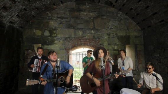 Of Monsters and Men concert at Paste Ruins at Newport Folk Festival on Jul 29, 2012