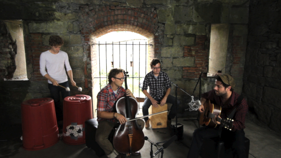 Dawes And Ben Sollee concert at Paste Ruins at Newport Folk Festival on Jul 29, 2012