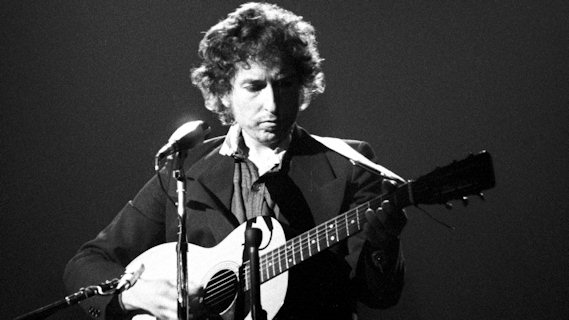 Bob Dylan &amp; The Band concert at Boston Garden on Jan 14, 1974