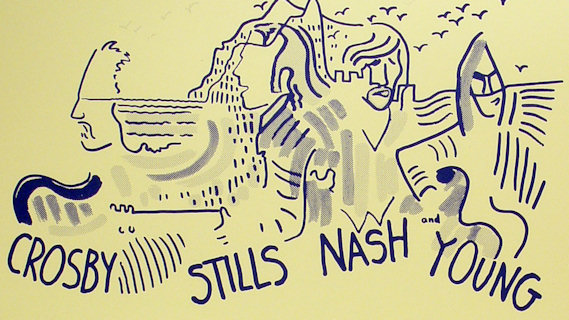 Crosby, Stills, Nash & Young concert at Winterland on Oct 4, 1973