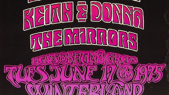 Mirrors concert at Winterland on Nov 7, 1975