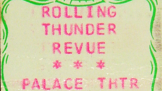 The Rolling Thunder Revue concert at Palace Theater Waterbury on Nov 11, 1975