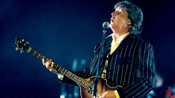 Paul McCartney concert at RFK Stadium on Jul 4, 1990
