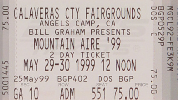 Mickey Hart & Planet Drum concert at Calaveras County Fairgrounds on May 30, 1999
