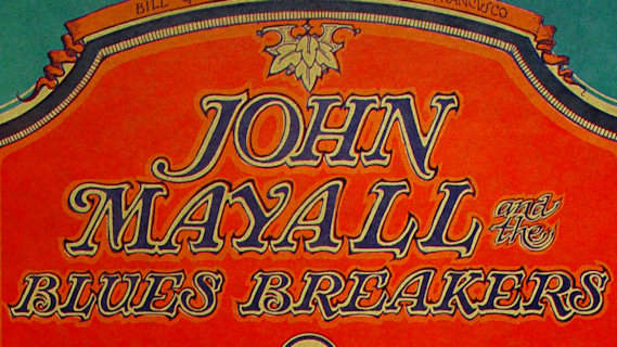 John Mayall & the Bluesbreakers concert at Fillmore Auditorium on Feb 9, 1968