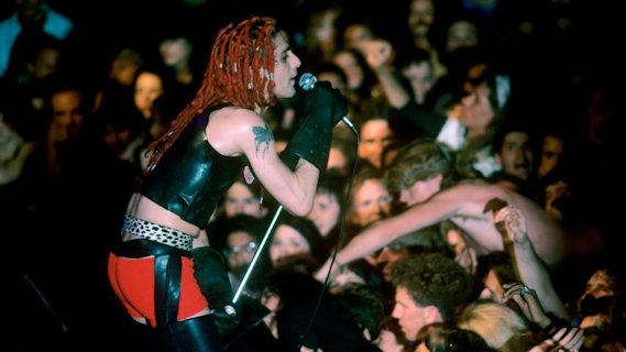 Jane's Addiction concert at Theater of Living Arts on Feb 20, 1989