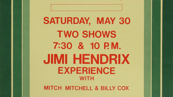 Jimi Hendrix Experience concert at Berkeley Community Theatre on May 30, 1970