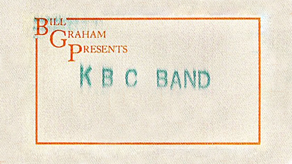 KBC Band concert at Fillmore Auditorium on Nov 27, 1985
