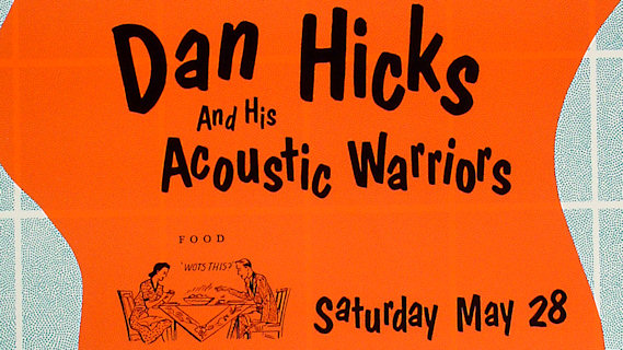Dan Hicks & the Acoustic Warriors concert at Fillmore Auditorium on May 28, 1988