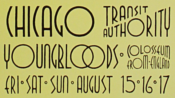 Chicago Transit Authority concert at Fillmore West on Aug 17, 1969