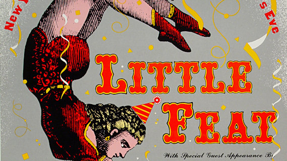 Little Feat concert at Henry J. Kaiser Auditorium on Dec 31, 1988