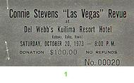 Connie Stevens 1970s Ticket