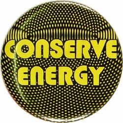 Conserve EnergyVintage Pin