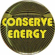 Conserve Energy Vintage Pin