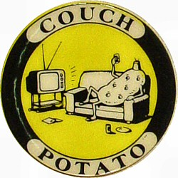 Couch Potato Vintage Pin