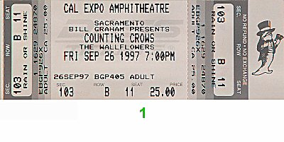 Counting Crows 1990s Ticket