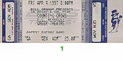 Ben Folds Five Vintage Ticket