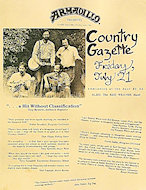 Country Gazette Handbill
