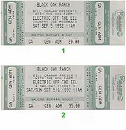 The King Bees 1990s Ticket